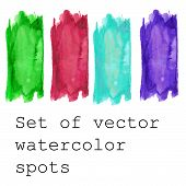 Set of Watercolor vector banners