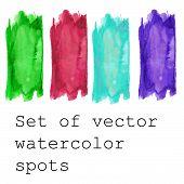 Set of Watercolor vector banners