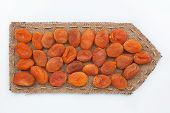 Pointer Of  Burlap With Dried Apricots