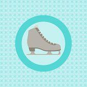 Ice Skating Flat Icon