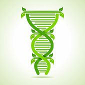Ecology concept- leafs make a DNA strand stock vector