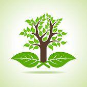 Tree on the leaf- vector illustration
