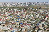 Aerial view to the residential area of Astana city Kazakhstan.