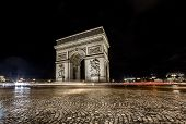 Arc De Triomphe Night View