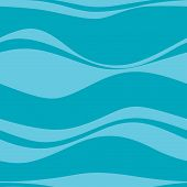 Seamless pattern with blue waves