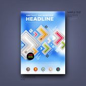 Modern Vector Template for Business Brochure, Report, Poster, Banner or Flyer Design. Blurred Background.