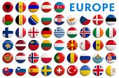 stock photo of sweden flag  - All European flags by alphabetical order - JPG
