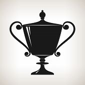 Silhouette Cup Of Winner, Gold Trophy Cup
