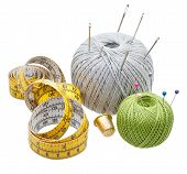 Few Simple Needlework Objects Isolated