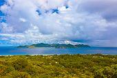 Island Praslin at Seychelles - nature background