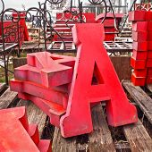 Letter A Tin Letters