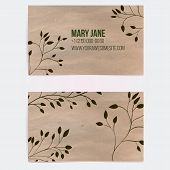 picture of paper craft  - Two sided business card for natural cosmetics store or other eco friendly product - JPG