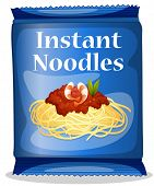 Illustration of a bag of instant noodles