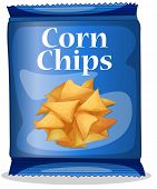 Illustration of a bag of corn chips