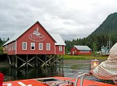 stock photo of tlingit  - Icy Point Strait and the Tlingit people cater to fishing - JPG