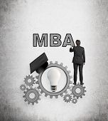 Businessman Drawing Mba