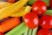 Fresh vegetables, macro view