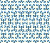 Blue Abstract Curve Flower Pattern On Pastel Background