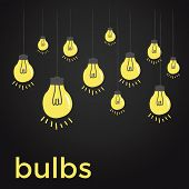 Bare bulbs hanging on strings