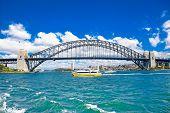 Harbour bridge-Famous landmarks in Sydney, Australia.