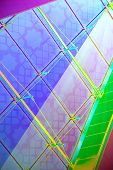 Abstract Background, Structure Of Glass