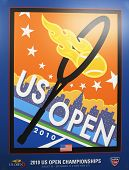 US Open 2010 poster on display at the Billie Jean King National Tennis Center in New York
