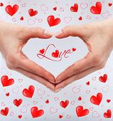 Love Concept With Woman Hands