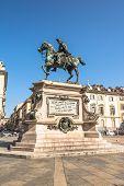 The equestrian monument of Alfonso Ferrero della Marmora