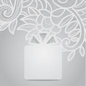 Gift With Floral Gray
