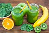 foto of ingredient  - Blended smoothie with ingredients selective focus image - JPG