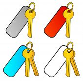 Bunch of keys with a charm