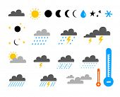 Icon Set of Weather and Climate
