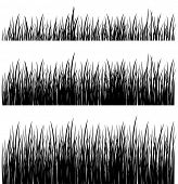 vector set of silhouette grass