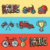 Racing Banners Set
