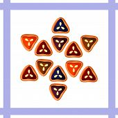 Triangular-shaped cookies