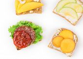 Close up of delicious sandwiches.