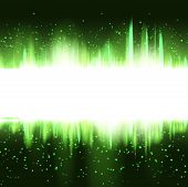 abstract Christmas green glowing background