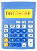 Calculator With Database