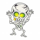 Illustration of funny skeleton