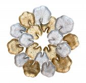 Silver And Gold Leaf Lotus