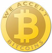 image of bitcoin  - We accept bitcoins - JPG