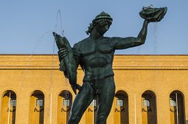 picture of poseidon  - Famous Poseidon statue in Goteborg - JPG