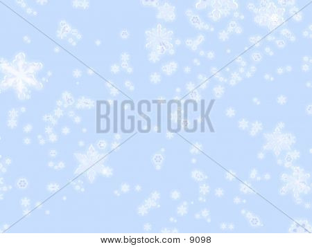 Icy Snowflakes On Blue Background poster