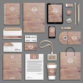 picture of letterhead  - Corporate identity template set - JPG