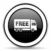 picture of free-trade  - free delivery icon - JPG
