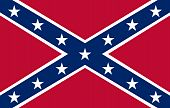 stock photo of confederate flag  - Confederate rebel flag of southern America in official colors - JPG