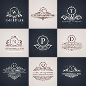 stock photo of boutique  - Luxury logo set - JPG