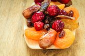 stock photo of dry fruit  - Healthy high fiber food organic nutrition - JPG