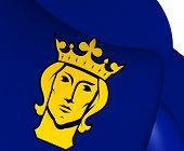 pic of sweden flag  - 3D Flag of Stockholm Sweden - JPG