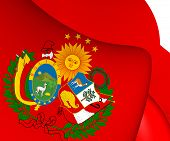 stock photo of confederation  - 3D Flag of Peru - JPG